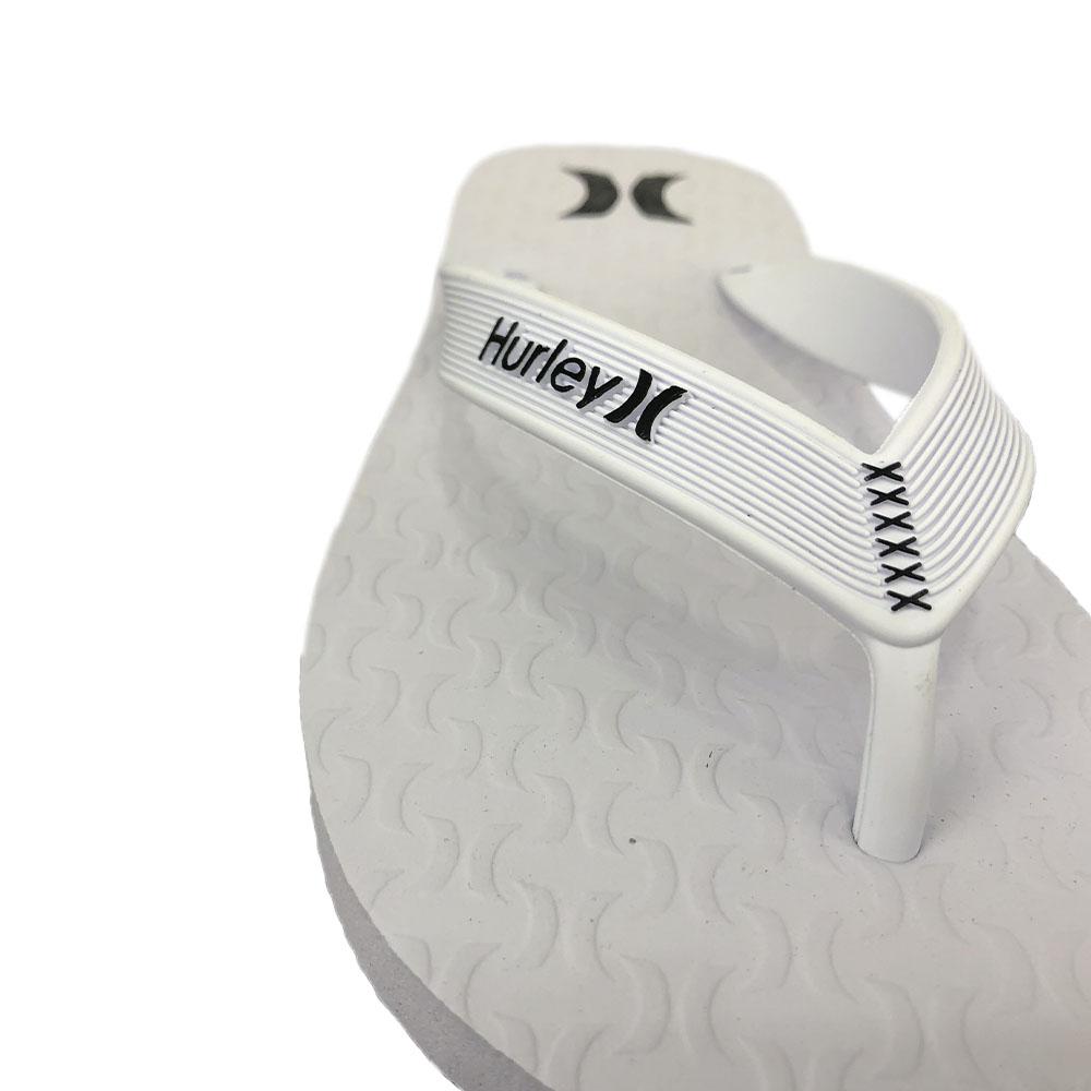 Chinelo Hurley Icon HU0002 Branco Branco