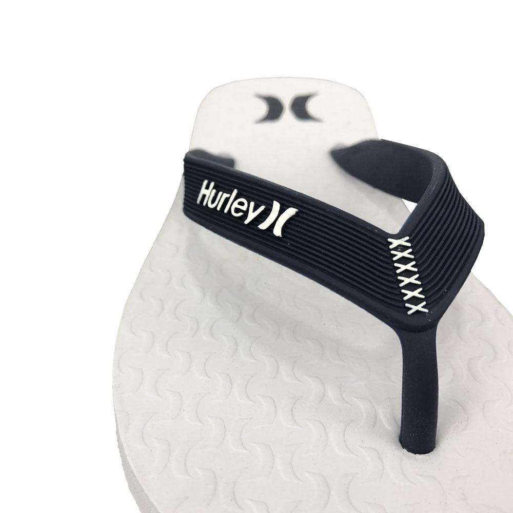 Chinelo Hurley Icon HU0002 Branco Marinho