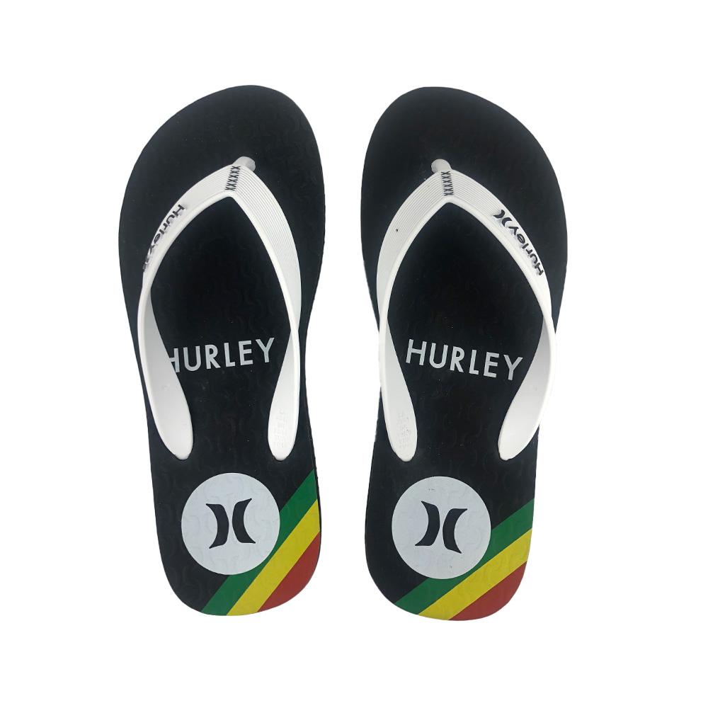 Chinelo Hurley Inbox HU0021 Preto Branco