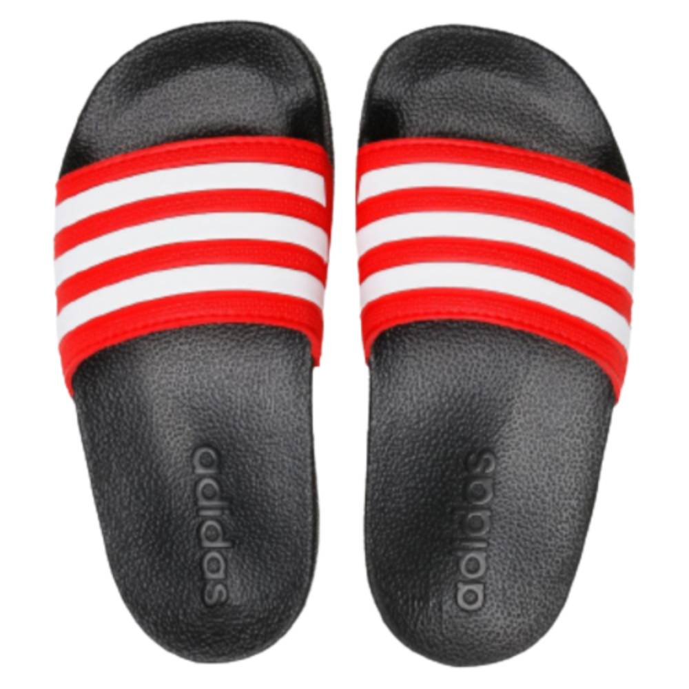 Chinelo Slide Adidas Adilette Shower Preto Vermelho