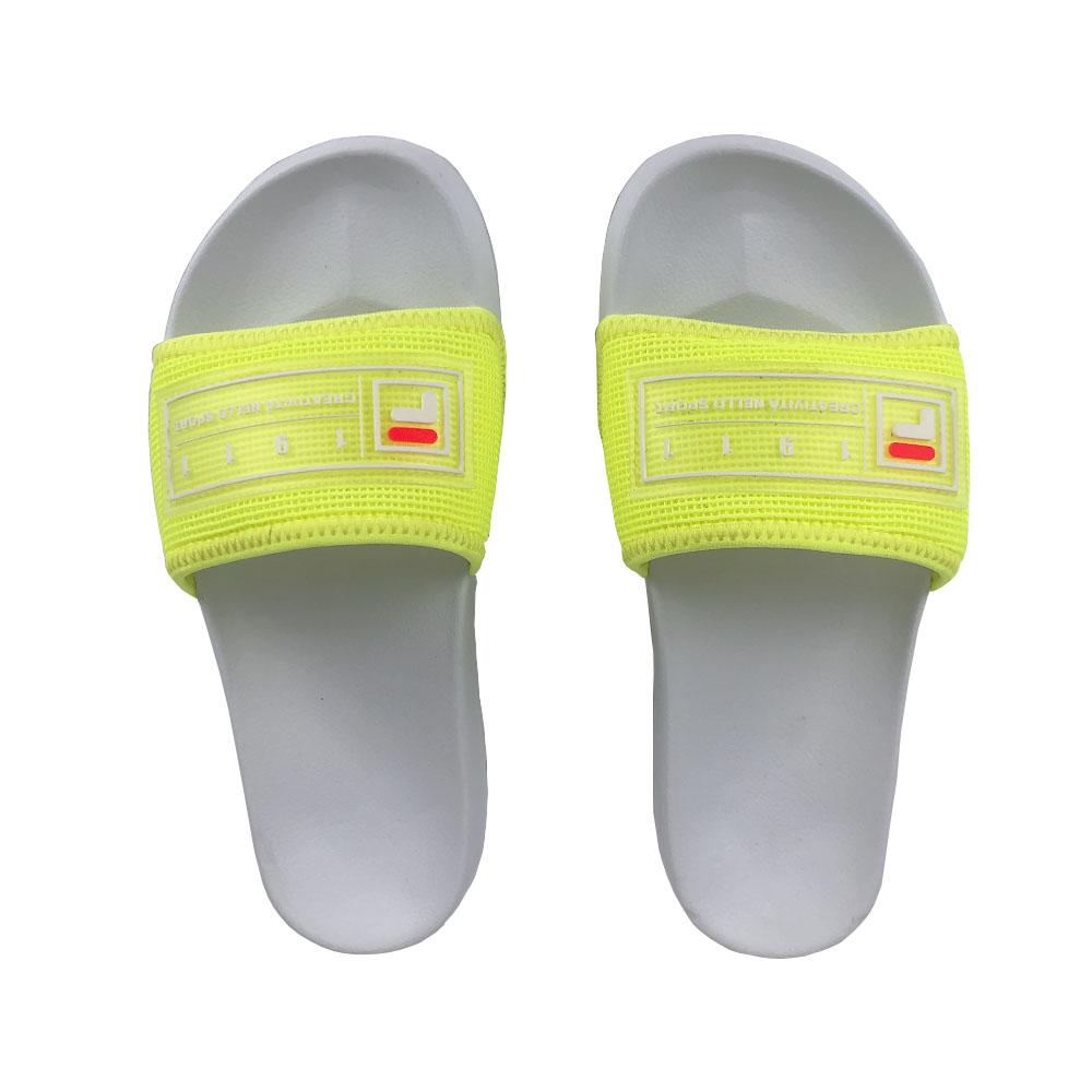 Chinelo Slide Fila Drifter Mesh Feminino Limão Branco