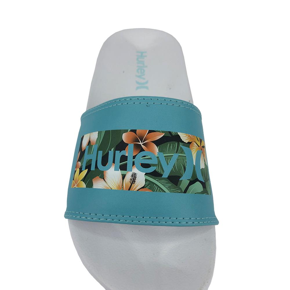 Chinelo Slide Hurley Cabana Box HU0031 Branco Azul
