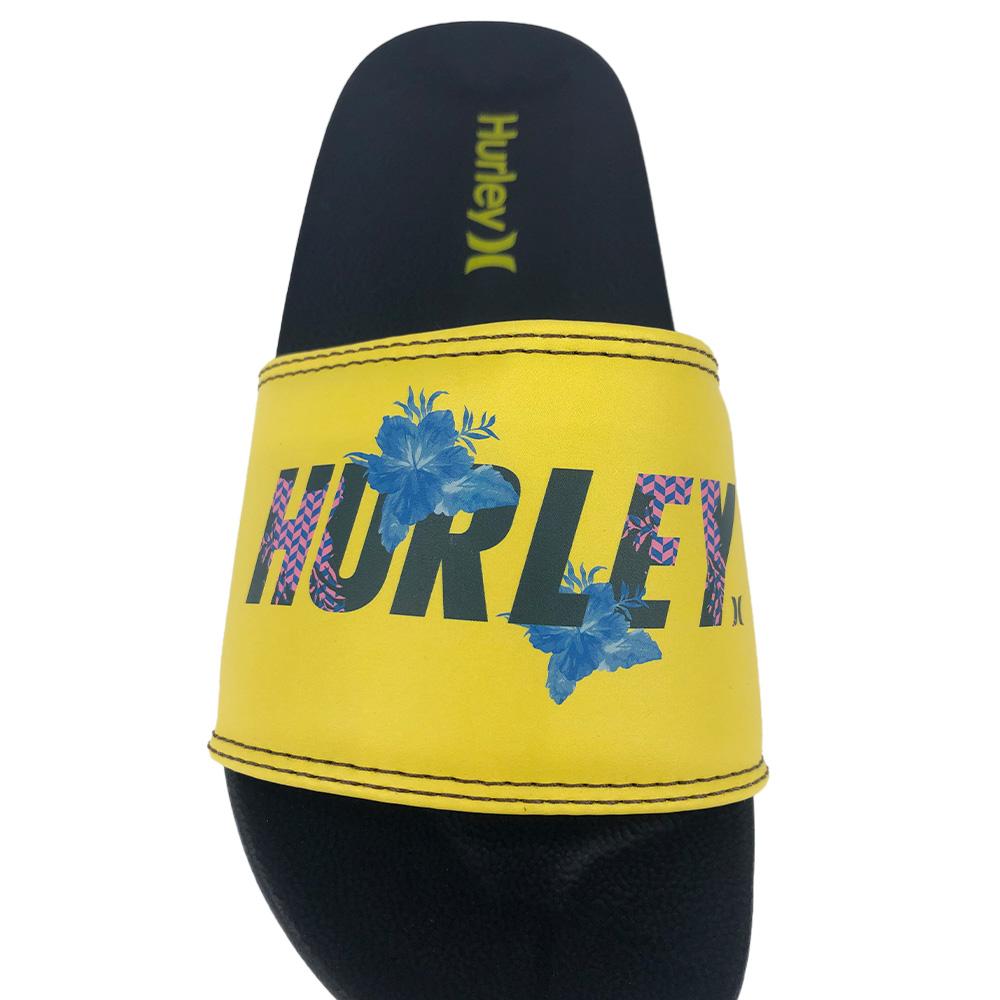 Chinelo Slide Hurley Fastlane 2 HU0030 Marinho Amarelo