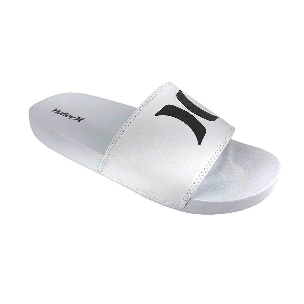 Chinelo Slide Hurley Icon HU0014 Branco Branco