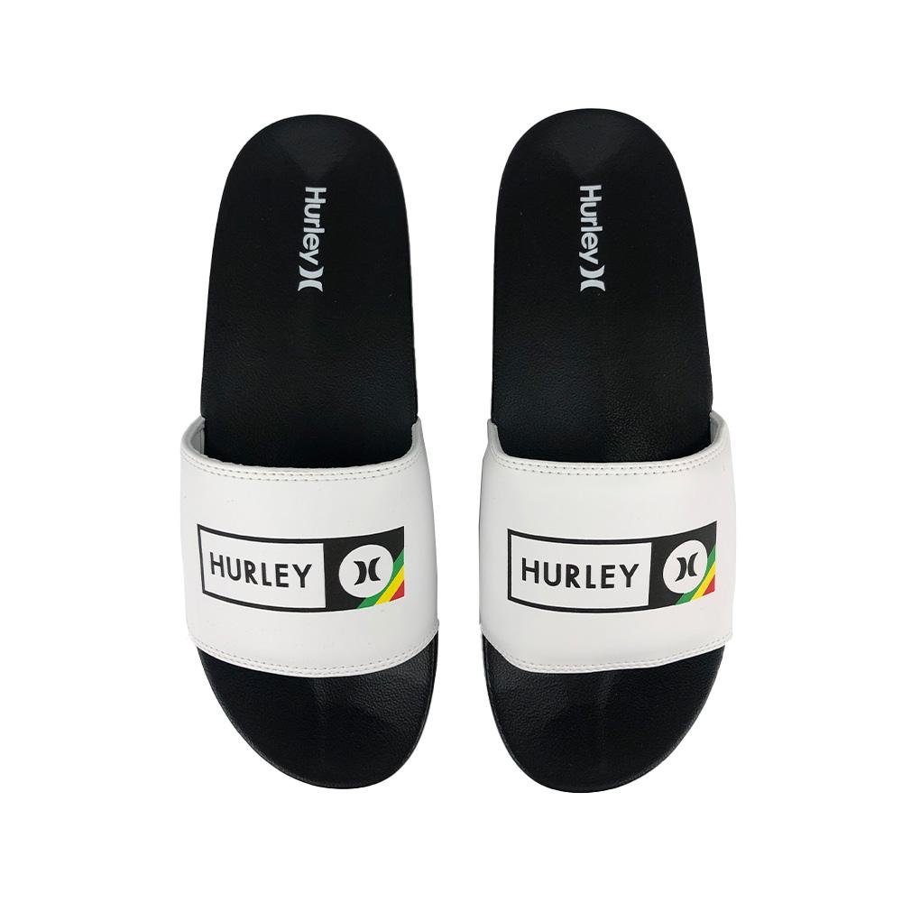 Chinelo Slide Hurley Inbox HU0029 Preto Branco