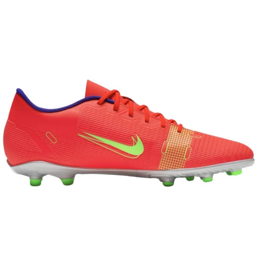 Chuteira Nike Campo Vapor 14 Club - Laranja e Verde