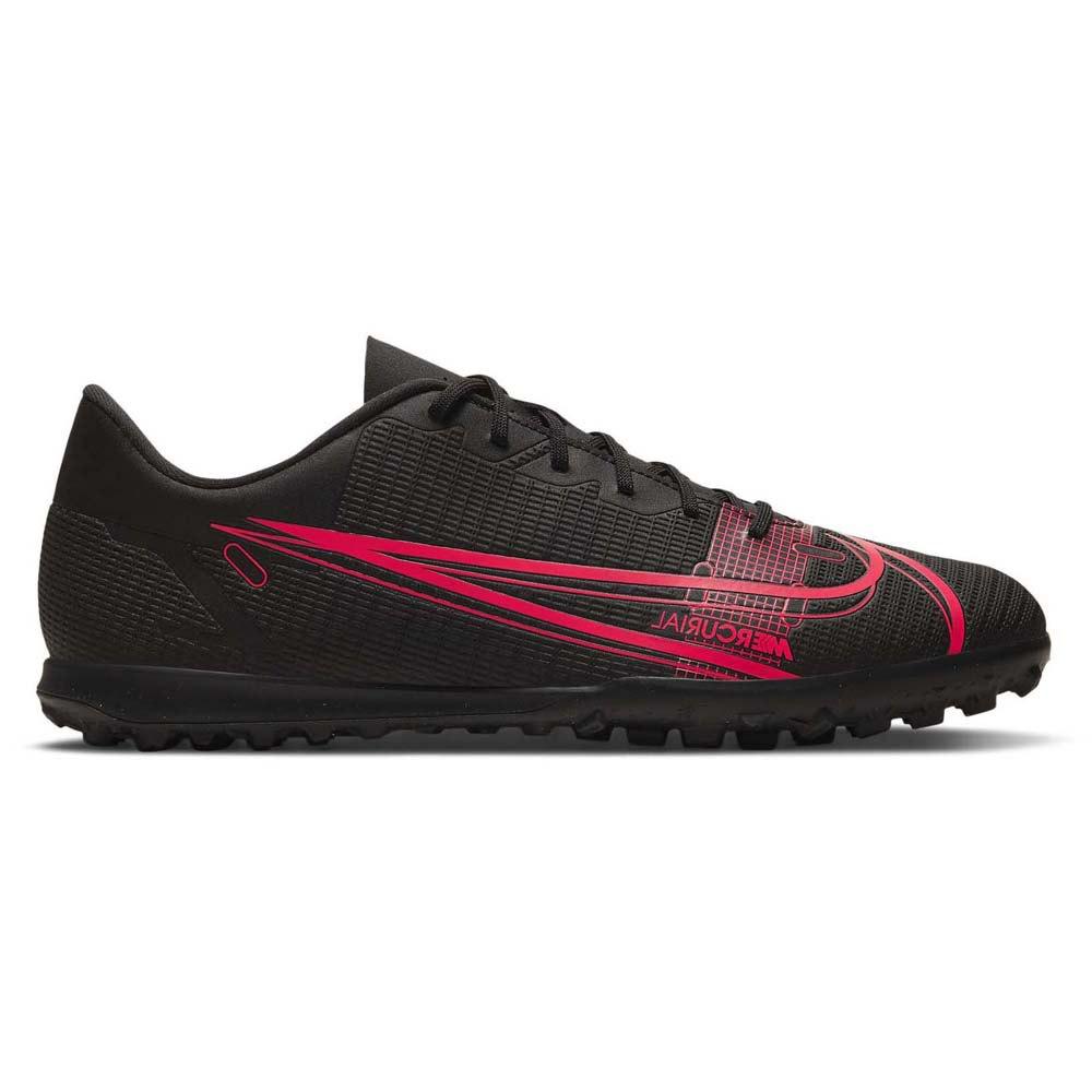 Chuteira Society Nike Vapor 14 Club Preto Vermelho