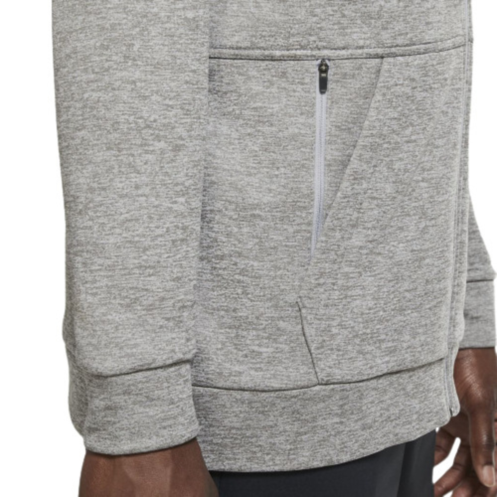 Jaqueta Nike Capuz Therma Dri-Fit Cinza