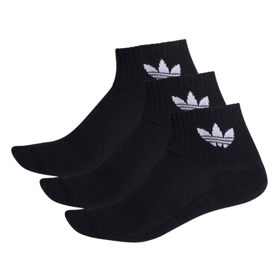 Kit C/3 Meias Adidas Mid Ankle - Preto