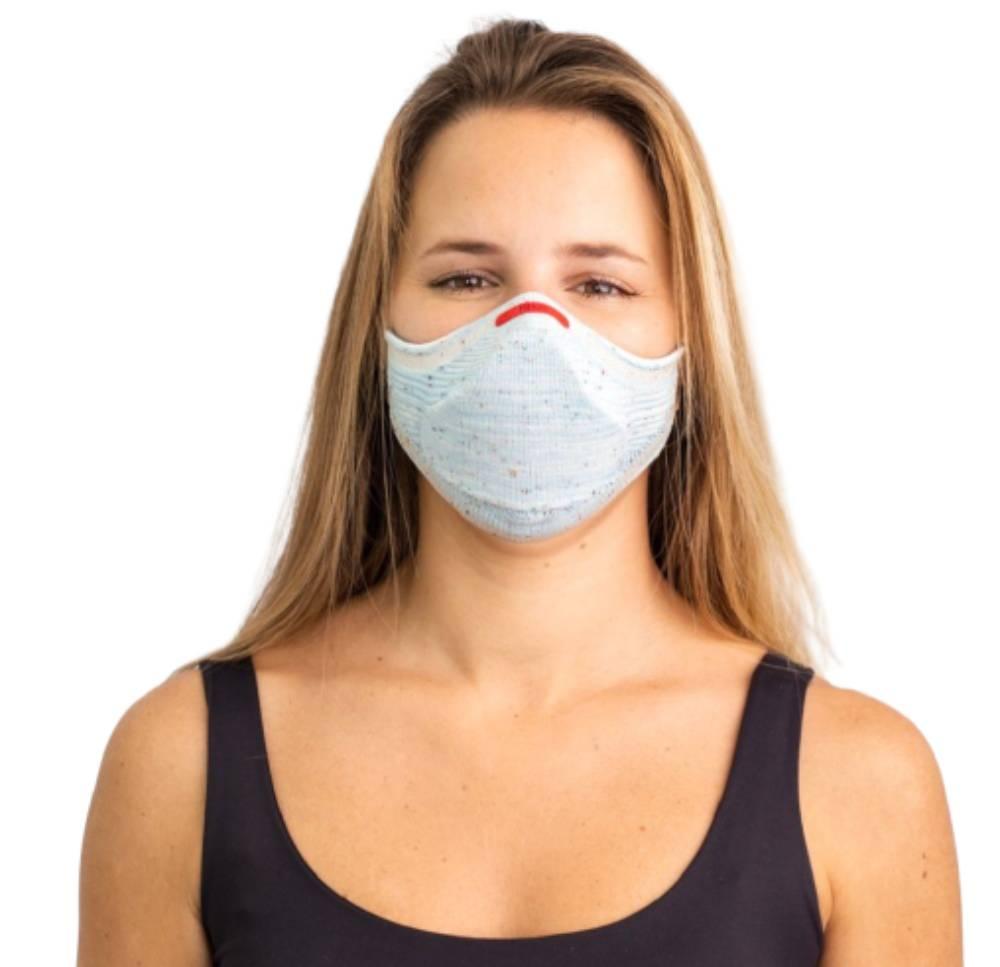 Máscara Fiber Knit Air 30 Filtros de Proteção+Suporte 3D Azul