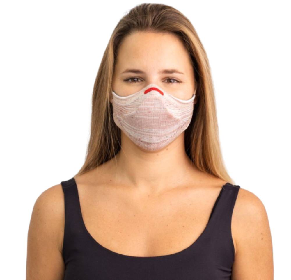 Máscara Fiber Knit Air 30 Filtros de Proteção+Suporte 3D Rosê