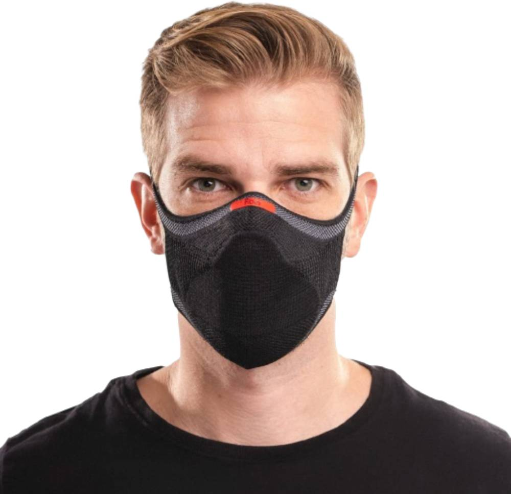 Máscara Fiber Knit Sport 30 Filtros de Proteção+Suporte 3D Preto