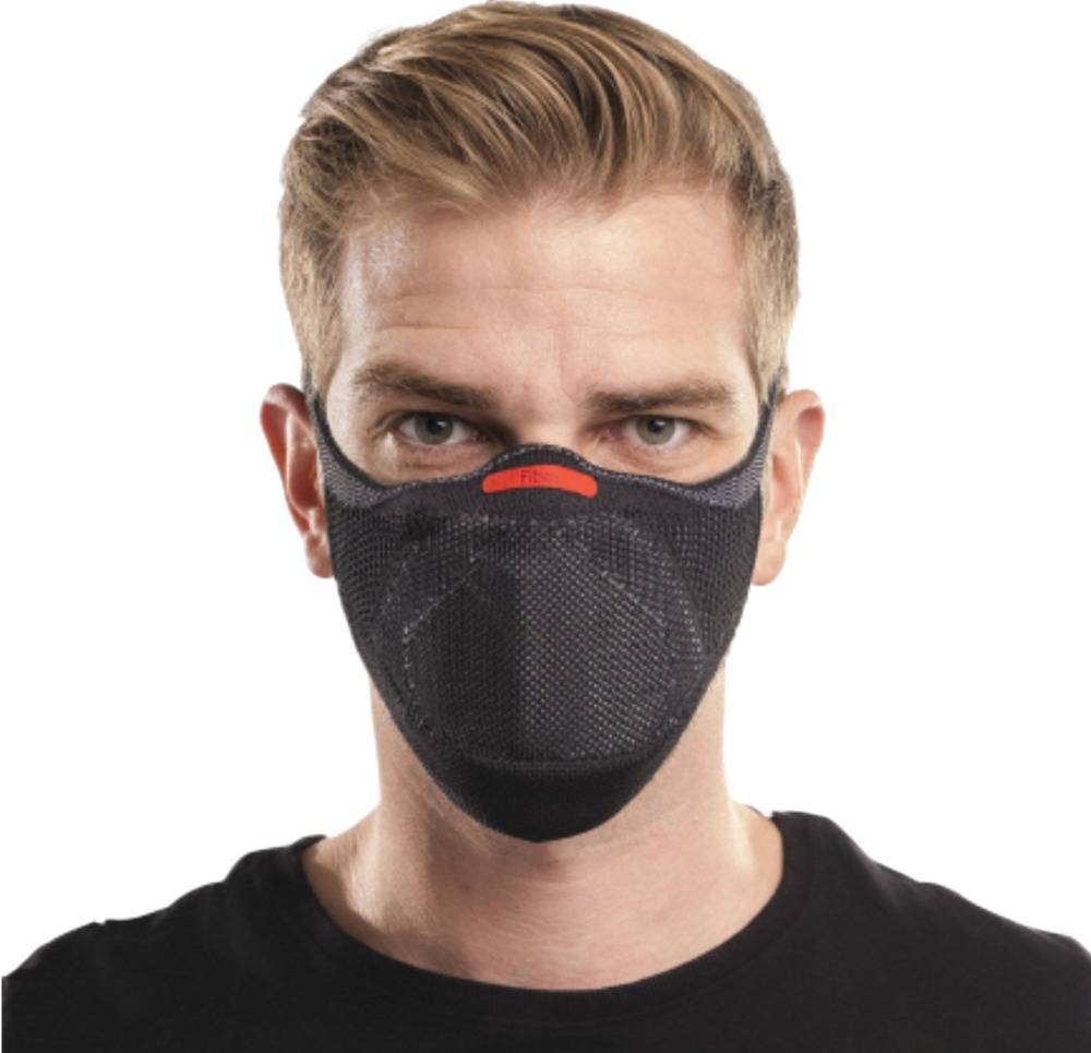 Máscara Fiber Knit Sport Clipe Nasal+Suporte+30filtros Preto