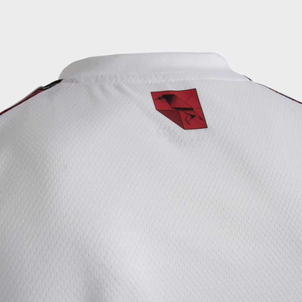Regata Oficial Flamengo II 21/22 Masculino Branco Vermelho