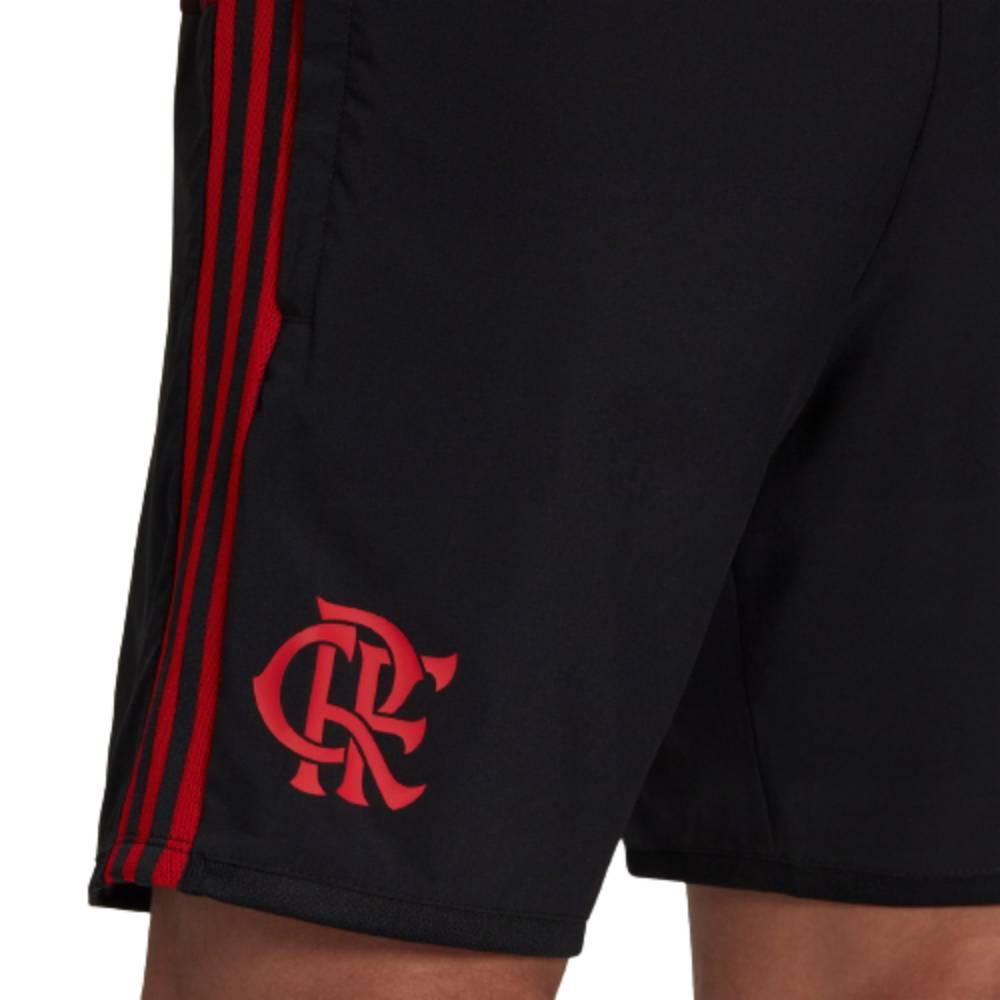 Short Oficial Flamengo Icon 21/22 Preto Vermelho