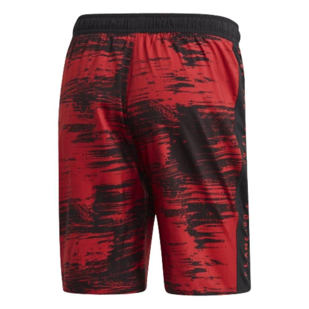 Bermuda Flamengo Natação Adidas 2020 Preto Vermelho
