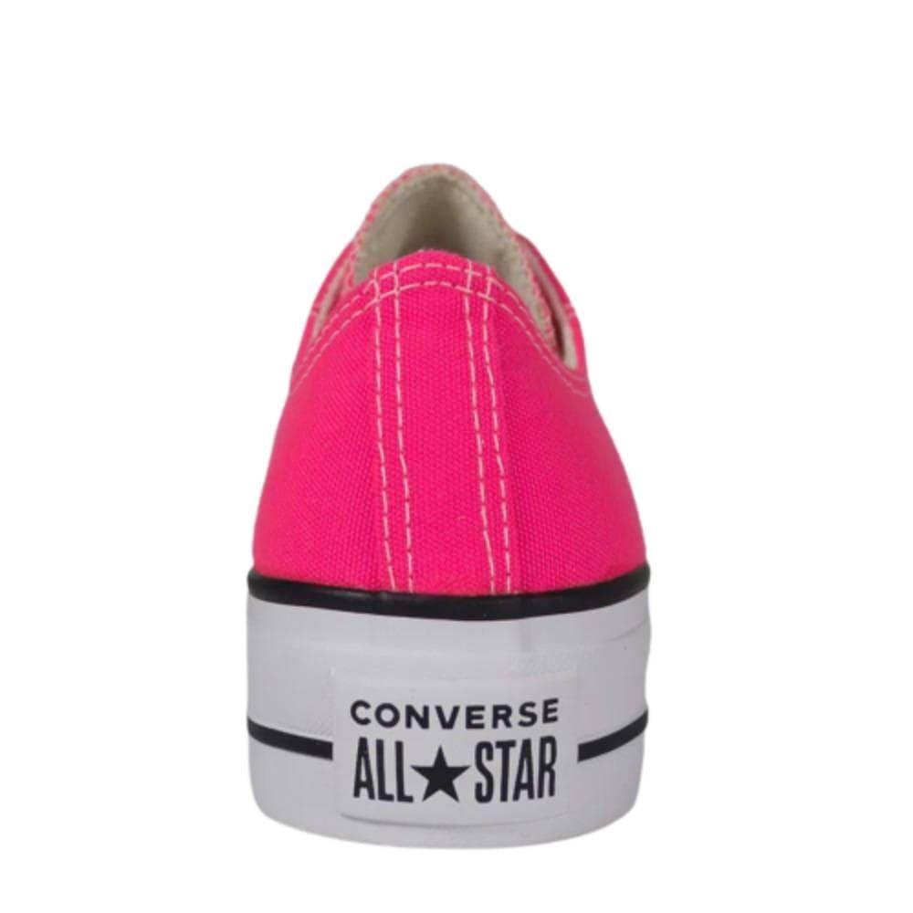 Tênis Converse All Star Chuck Taylor Platform Lift OX Rosa Branco