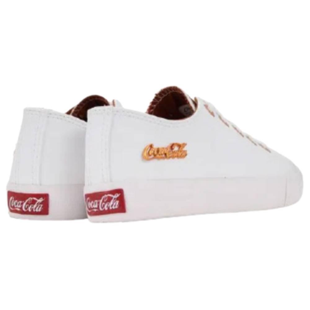 Tênis Coca Cola Basket Floater Branco Cobre