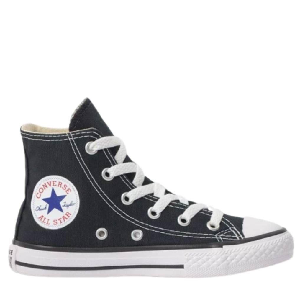 Tênis Converse All Star Chuck Taylor Cano Alto Infantil Preto