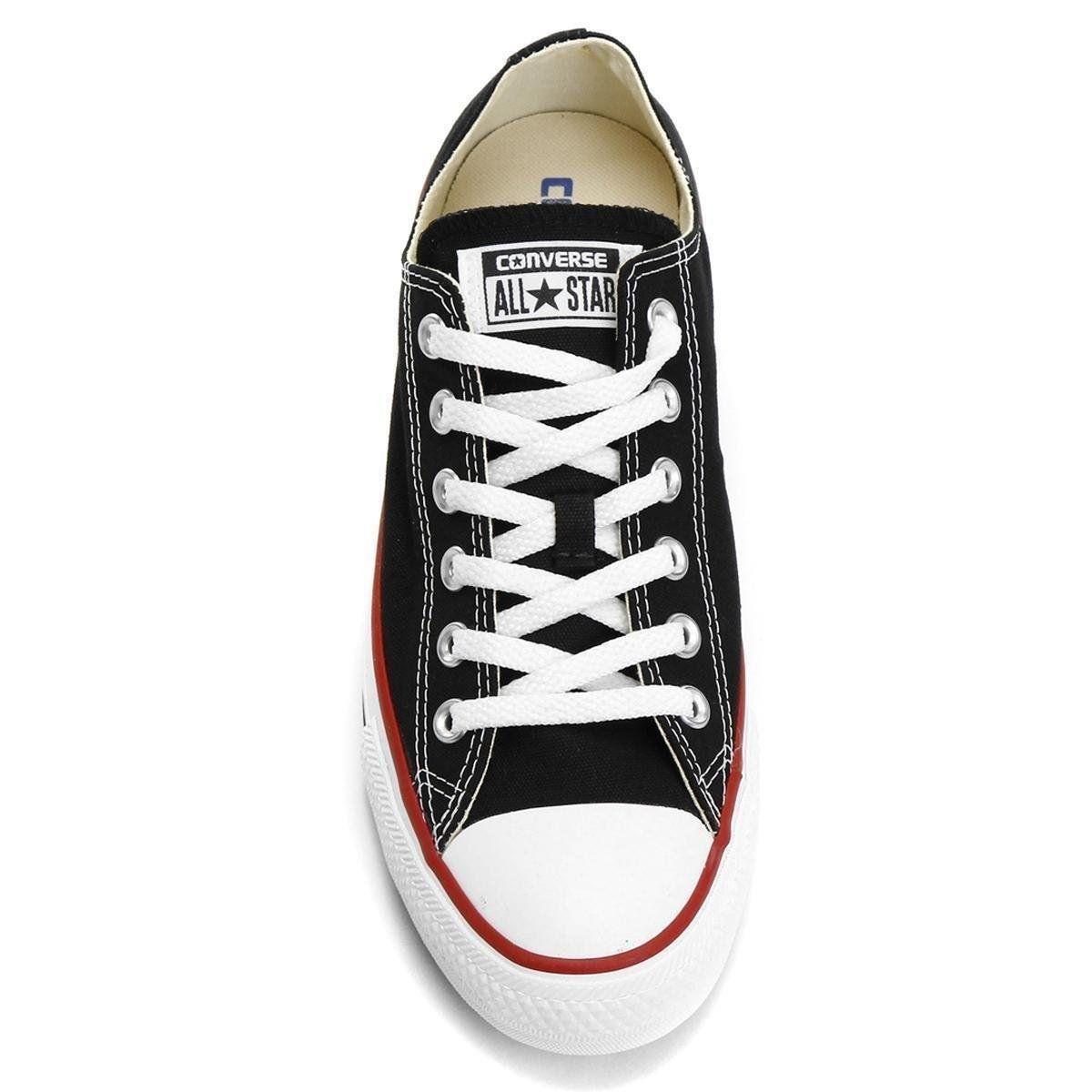 Tênis Converse All Star Chuck Taylor Core OX Preto e Vermelho