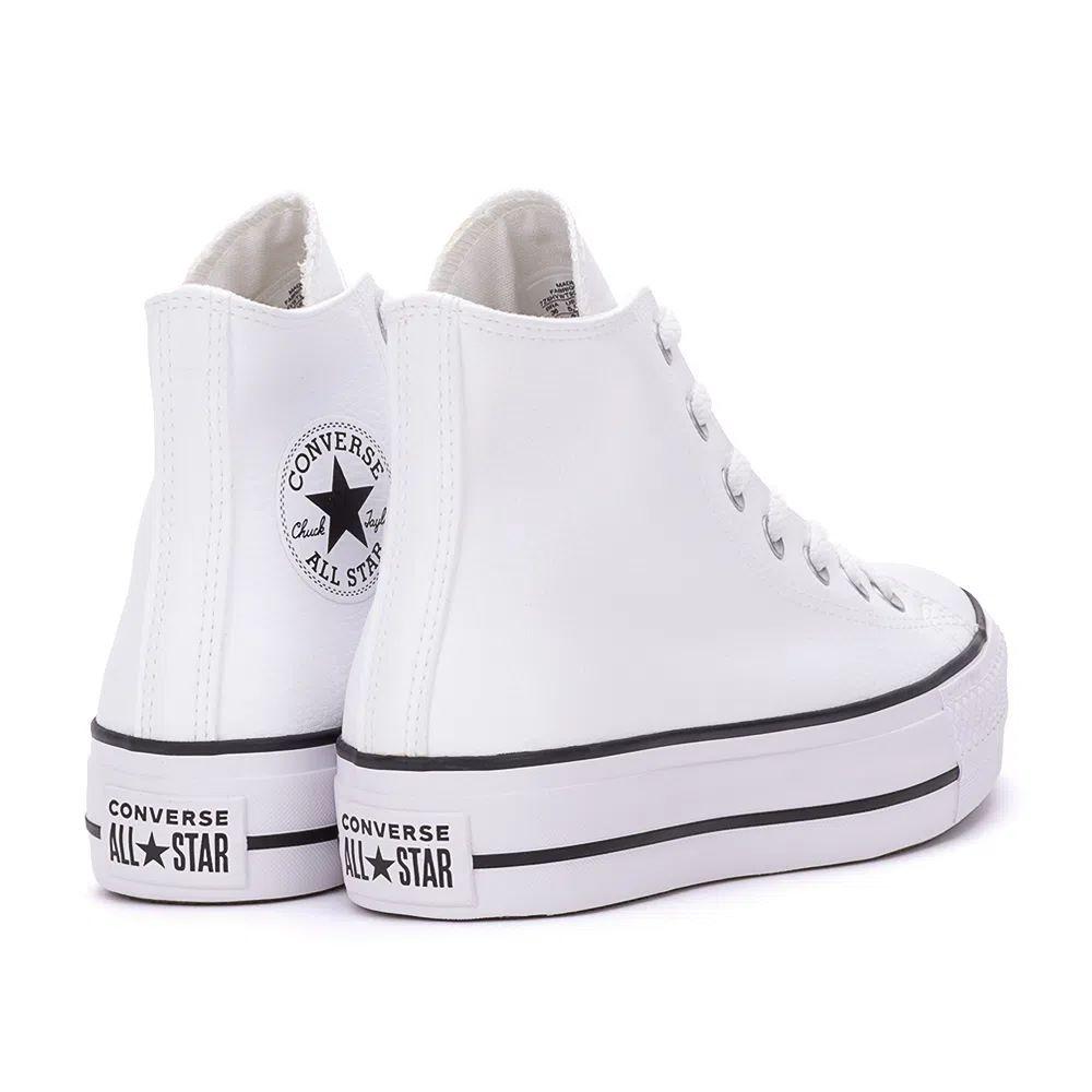 Tênis Converse All Star Chuck Taylor Platform Lift Hi Branco Preto