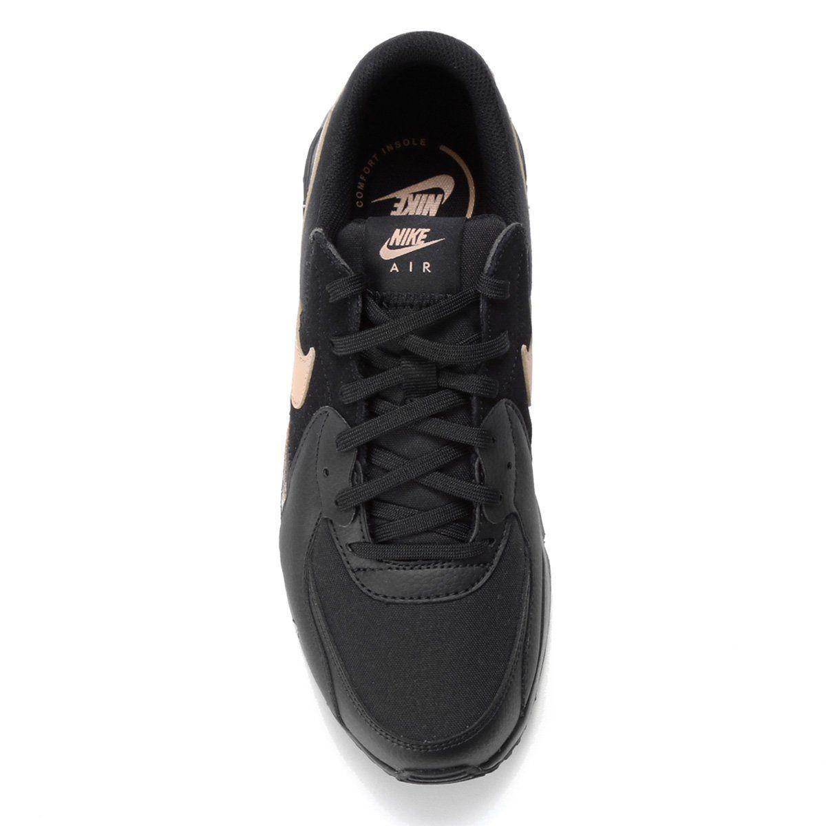 Tênis Nike Air Max Excee Preto Dourado