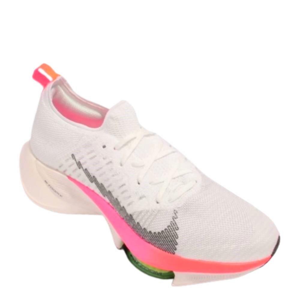 Tênis Nike Air Zoom Tempo Next% FK Branco Rosa