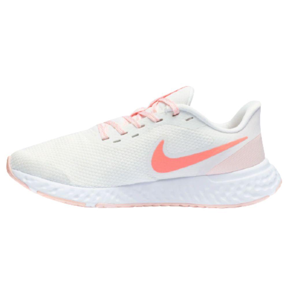 Tênis Nike Revolution 5 Branco Salmão