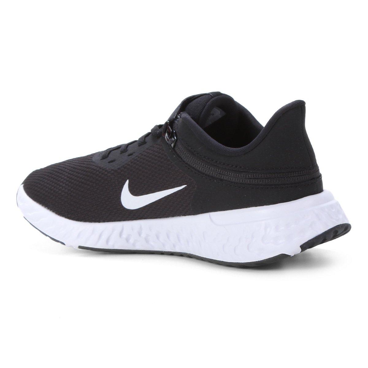 Tênis Nike Revolution 5 Flyease Preto Branco