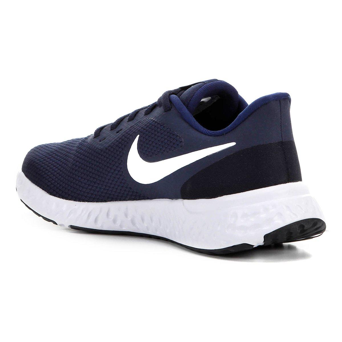 Tênis Nike Revolution 5 - Marinho e Branco
