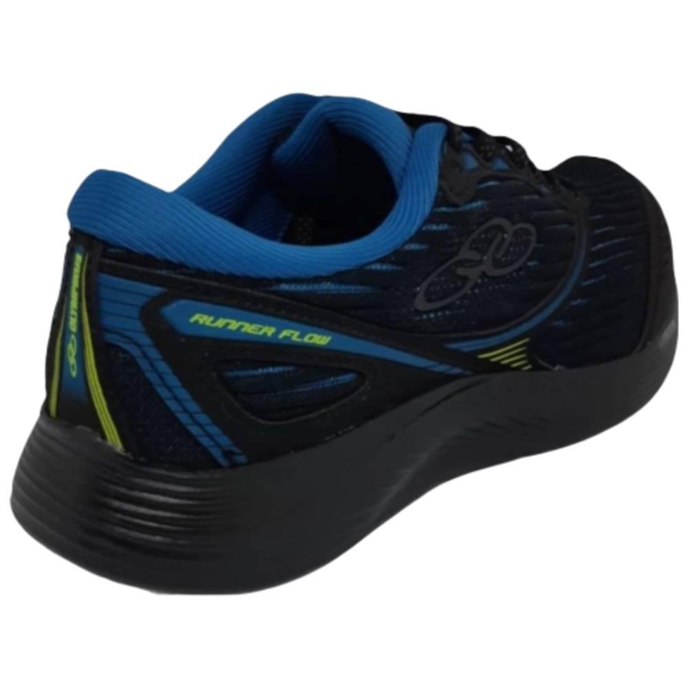 Tênis Olympikus Runner Flow Preto Azul