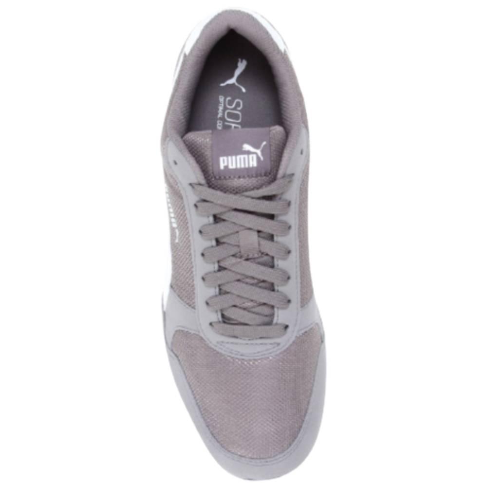 Tênis Puma ST Runner V2 Mesh Branco Cinza