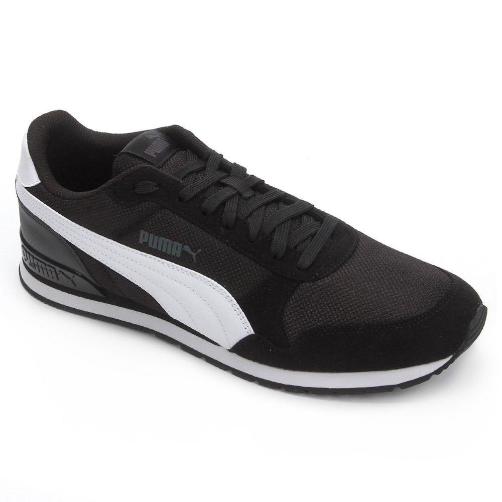 Tênis Puma ST Runner V2 - Preto/Branco