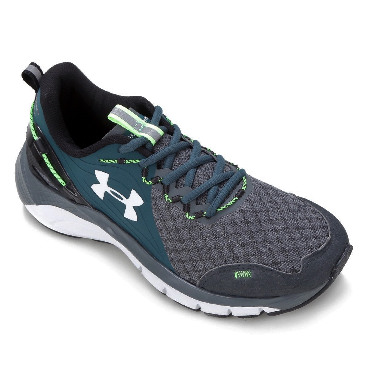Tênis Under Armour Charged Proud Cinza Verde Branco