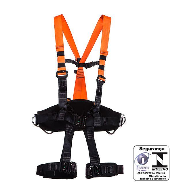 Cinto de Segurança MG Paraquedista 5 pontos Telecom Engate Rápido