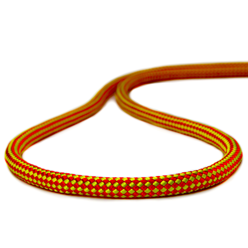 Corda Estática Climb K2 11,5mm NBR Amarela com vermelho