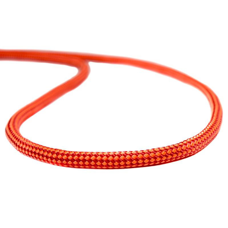 Corda Estática K2 9mm 24KN Laranja com vermelho