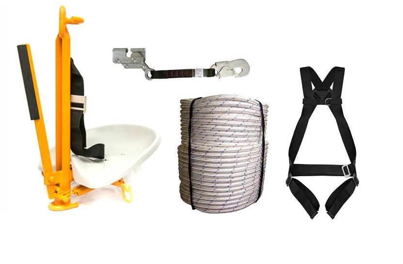 Kit Cadeira Suspensa para corda, com cinto, trava quedas e corda
