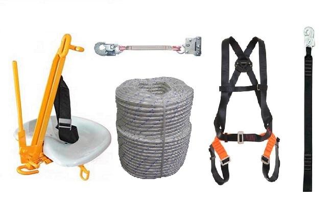 Kit Cadeira Suspensa para corda, com cinto, trava quedas, talabarte e corda