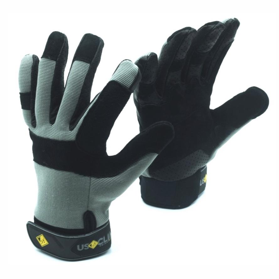 Luva USClimb Outdoor com proteção especial em couro total