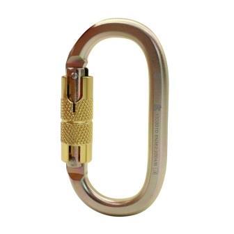 Mosquetão aço automático oval SideUp 25KN CE EN NBR Bronze