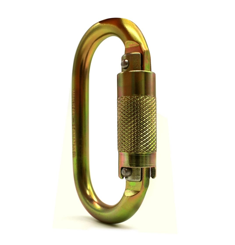 Mosquetão aço automático oval SideUp 25KN CE EN NBR Zincado