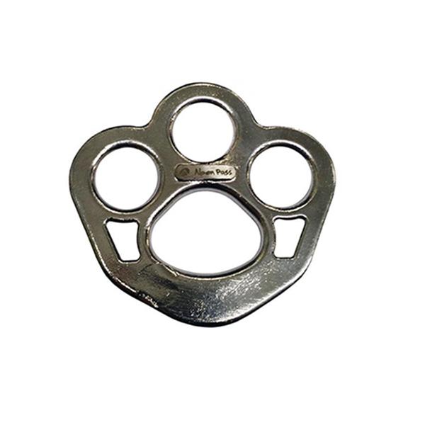 Placa de Ancoragem em aço inox 3 + 1 furos 48KN