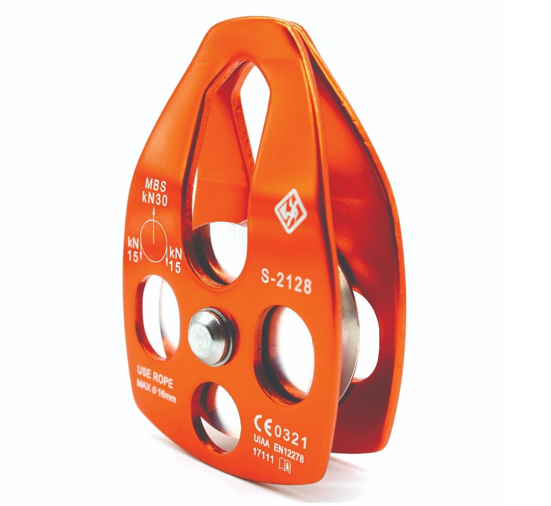 Polia Oscilante 30KN Alumínio USClimb para Corda até 16mm CE UIAA