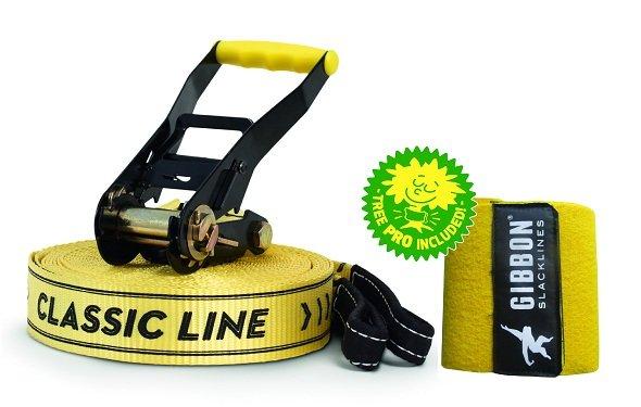 Slack Line Gibbon Classic 50mm 25mts com Treewear