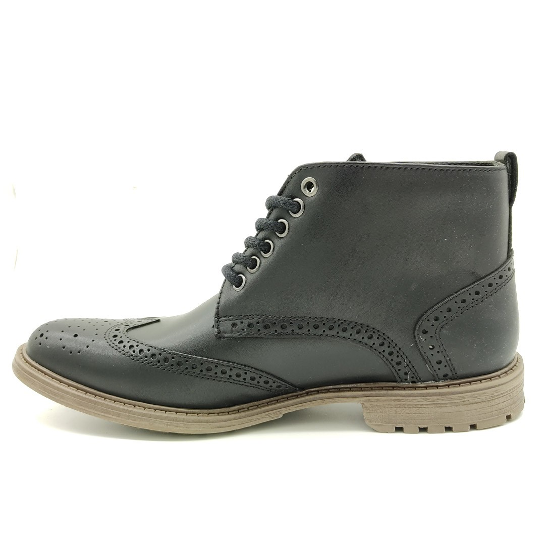 Bota Estilo Oxford Keep Shoes Preta 9155L
