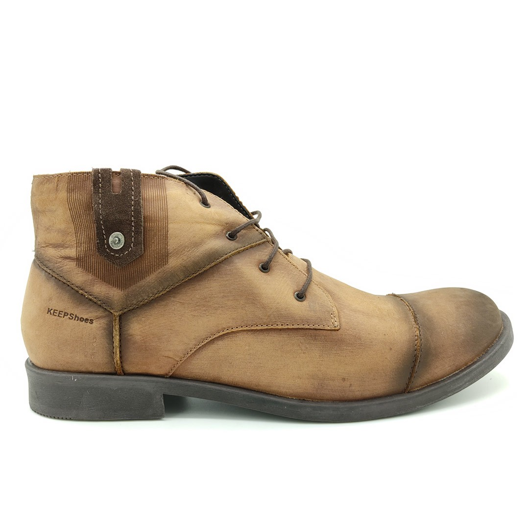 Bota Estilo Rústica Keep Shoes Tangerina ML803