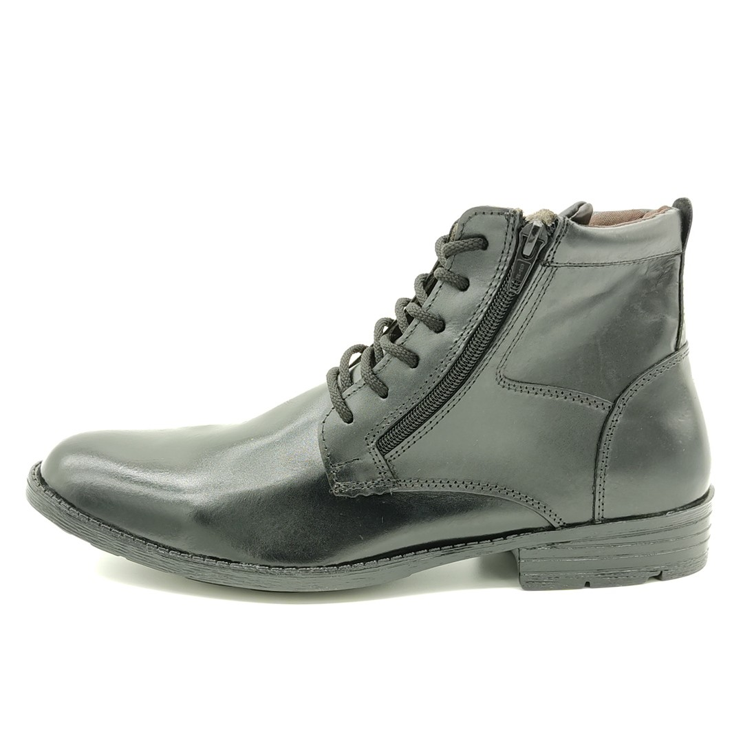 Bota Social Com Zíper Keep Shoes Preto 434