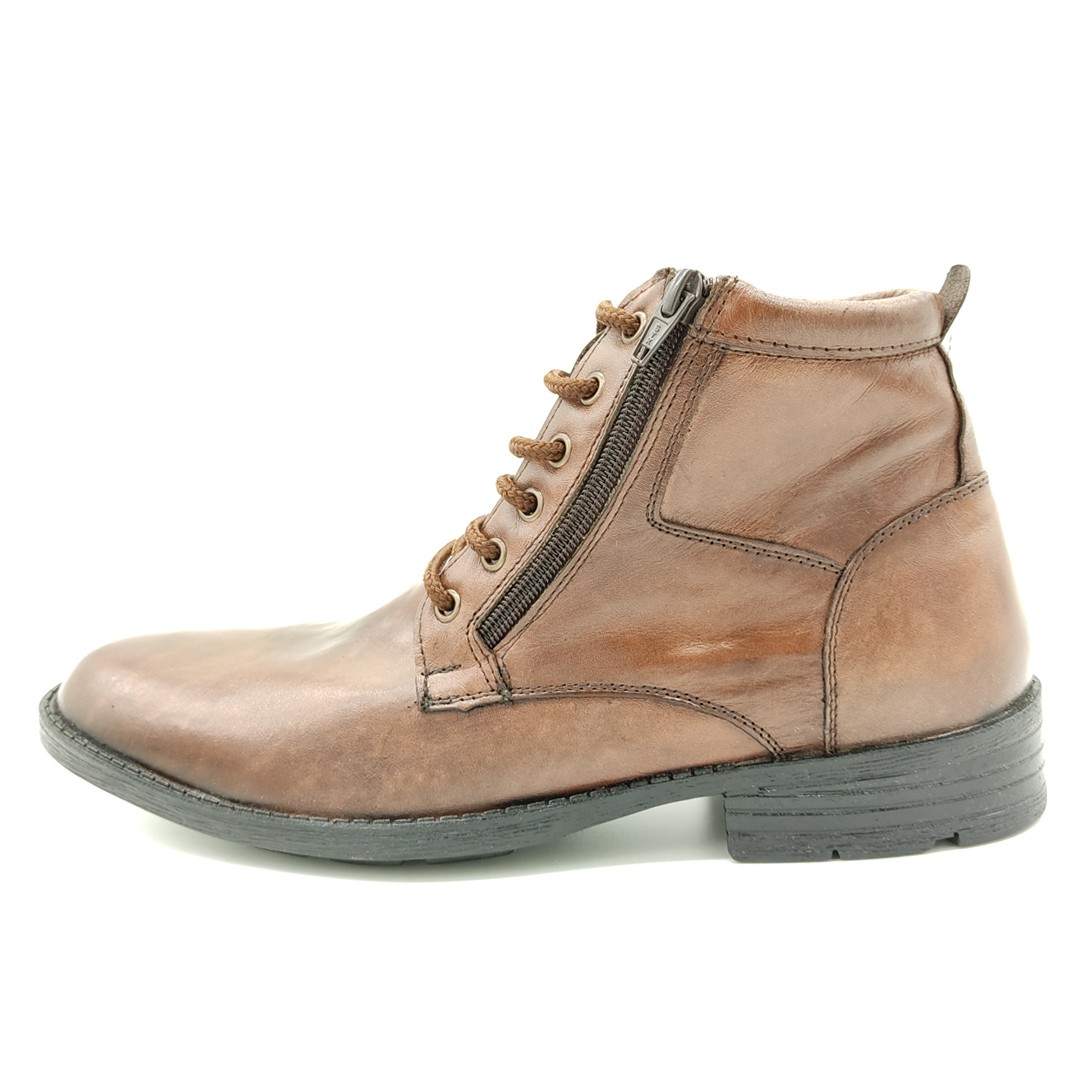 Bota Social Com Zíper Keep Shoes Tamarindo 434