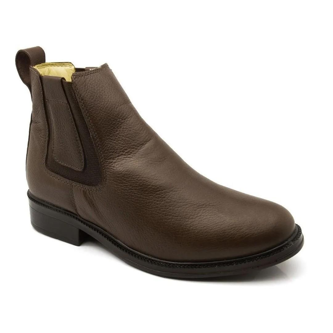 Botina Com Elástico Keep Shoes Cor Café 2300